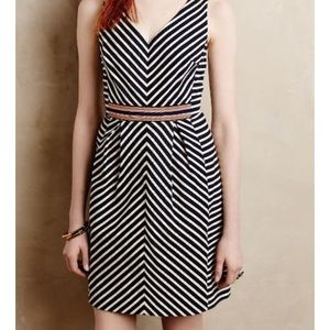 Maeve Mitered stripe dress